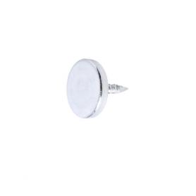 Rondella zincata diametro 15 mm. con chiodi per magnetico