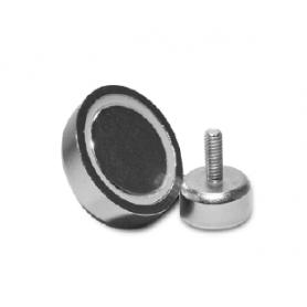 Magnetico neodimio con gambo filettato d.20