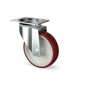 Ruota piroettante alta portata diametro 150 mm. rossa