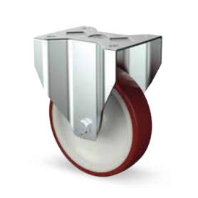 Ruota fissa alta portata diametro 80 mm. rossa