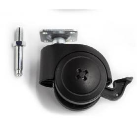 Ruote LEM-TRE con freno h. 73 mm. 120 Kg. con perno M8X15 mm.