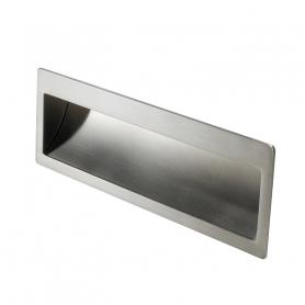 Maniglia incasso 9052 142x45 mm. argento