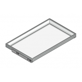 "Kit Vassoio Light ""VARIO"" guide Blum H. 56 mm x L. 782 mm x P. 542 senza fondo Nero terra"