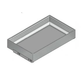 "Kit Cassettone Light ""VARIO"" c/guide Blum H. 140 mm x L. 782 mm x P. 542 senza fondo Nero terra"