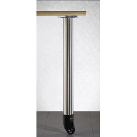Gamba tavolo diametro 60 mm h 710 mm con ruota cromo lucido