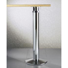 Gambone con base 300 mm diametro 80 mm 710/870 mm cromato