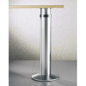 Gambone con base diametro 120 mm verniciato alluminio