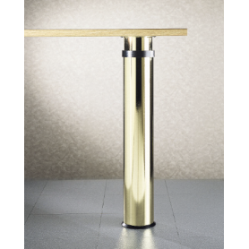 Gambone diametro 120 mm h 680-900 mm nichel satinato