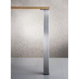 Gamba tavolo quadra h 710x60x60 mm nichel satinato
