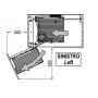 Meccanismo Dynamic Corner basso sx cesti in filo cromo