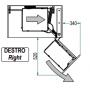 Meccanismo Dynamic Corner alto dx. e cesti in filo cromo