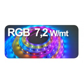 STRIP LED ADES 10X5000 7,2Wmt 12VDC IP20 RGB
