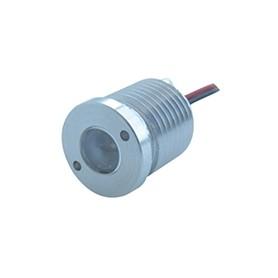 NANOSPOT 1 LED 12/15Vdc 1,2W  60° 6800K 350mA cablato con amp maschio mpk
