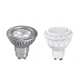 "LAMPADA LED """"GU 10"""" D50 5 W 3000K  ARGENTO 220-240V"
