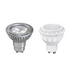 "LAMPADA LED """"GU 10"""" D50 5 W 4000K  ARGENTO 220-240V"
