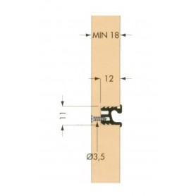 PROFILO ORIZ DA INCASSO ALL12x11  CIN - 6100 mm