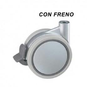 RUOTA SIRIO D100 C/FRENO GRIGIO ALLUM