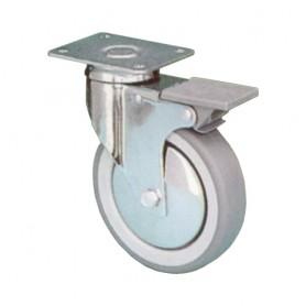 Ruota piroettante con freno h. 69 mm. diametro 50 mm.