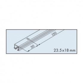 Singol top track EKU-CLIPO 16, aluminium, anodized L3500 mm