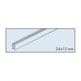 Glass fixing profile, EKU-CLIPO 35 GK/GKK, alu anodized, L 3500 mm