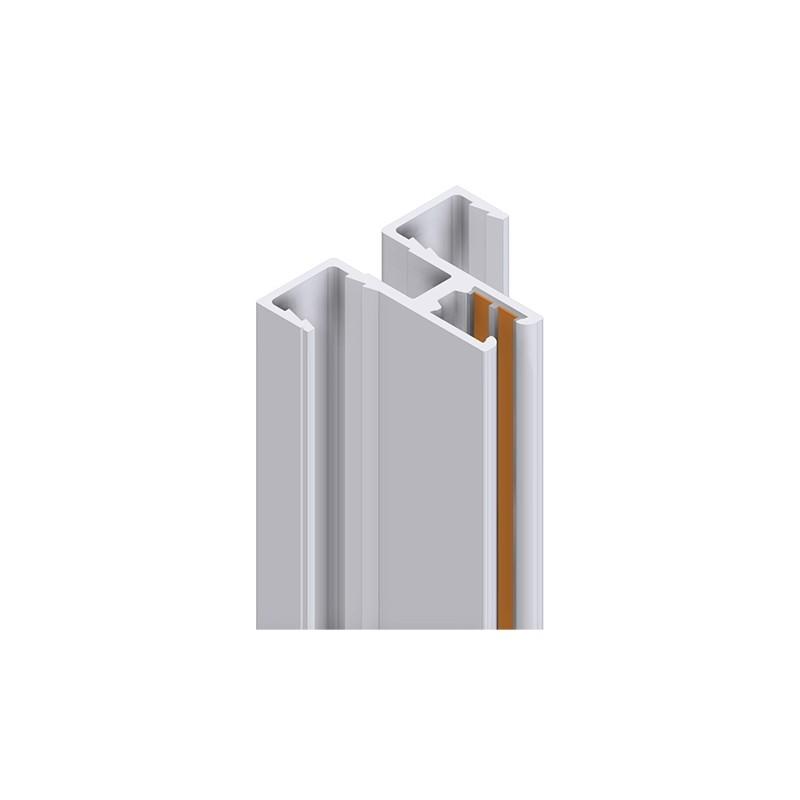 Montanti A Cremagliera Per Mensole.Cremagliera Elettrificata 2494 Mm Argento Allum Centrale Singola Feritoia